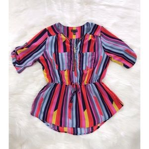 NEVER USED, colorful striped blouse